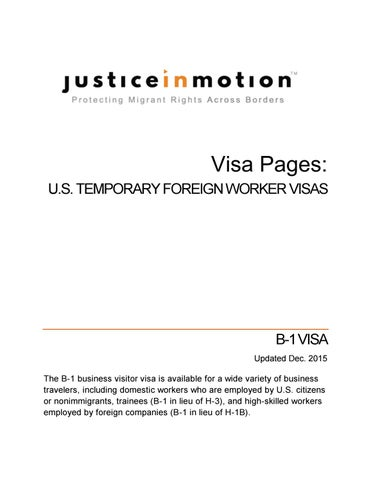 Visa Pages - B-1 - 2015 by Justice In Motion - issuu