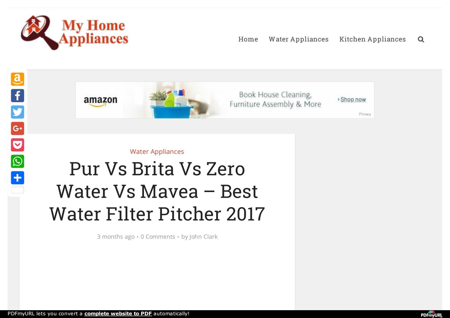 pur vs brita vs zero water vs mavea best water filter pitcher 2017 by battle8999 issuu. Black Bedroom Furniture Sets. Home Design Ideas