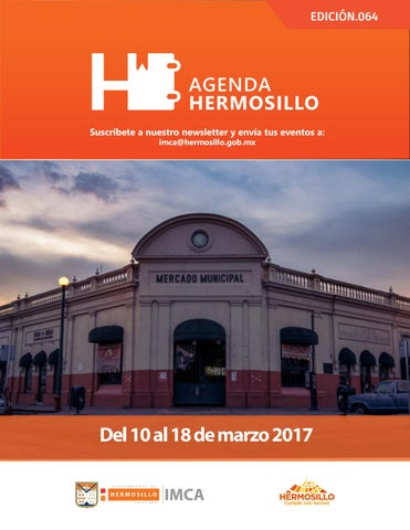 "Cover of ""Agenda Hermosillo 10 marzo 2017"""
