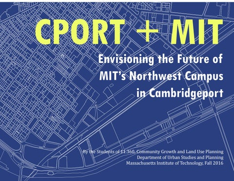 Envisioning the Future of MIT's Northwest Campus in