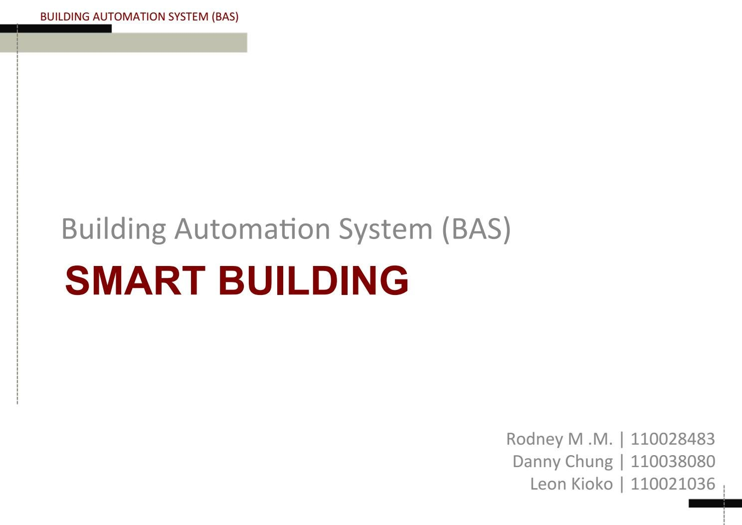 Grp7 related topics building automation system by ARCHITECT