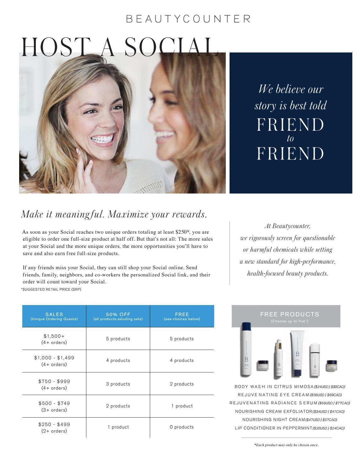beautycounter hostess rewards by albana konomi