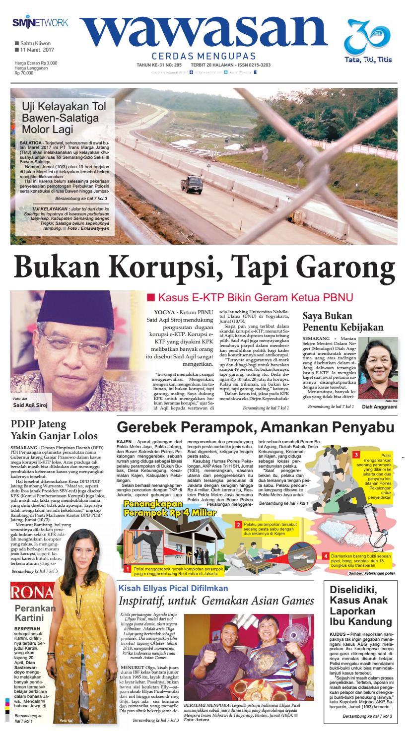 Wawasan 11 Maret 2017 By Koran Pagi Issuu Produk Ukm Bumn Kain Batik Middle Premium 3 Bendera 01