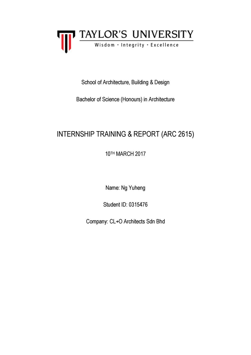 Internship Report By Yuheng Ng Issuu