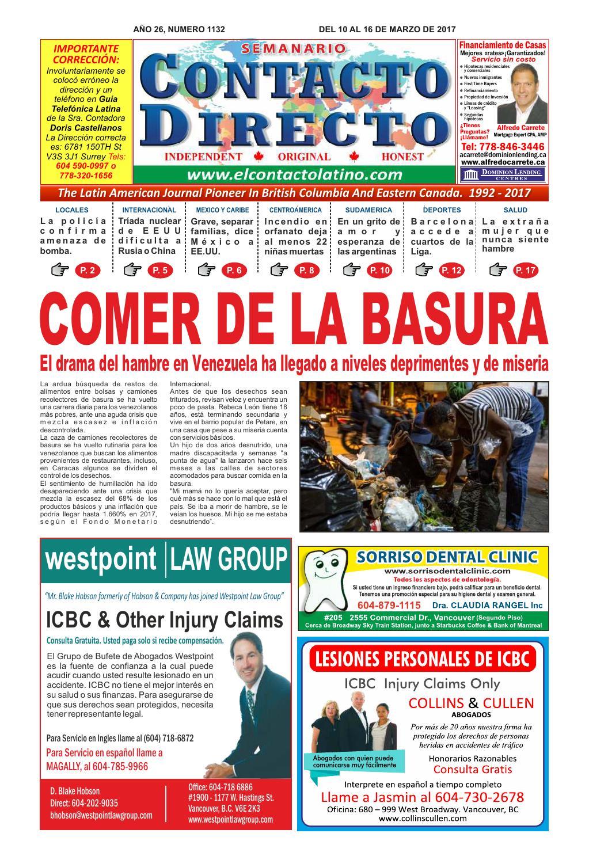 Semanario Contacto Directo Edici N 03 10 2017 By Peri Dico  # Muebles Tamara Fox Rancagua