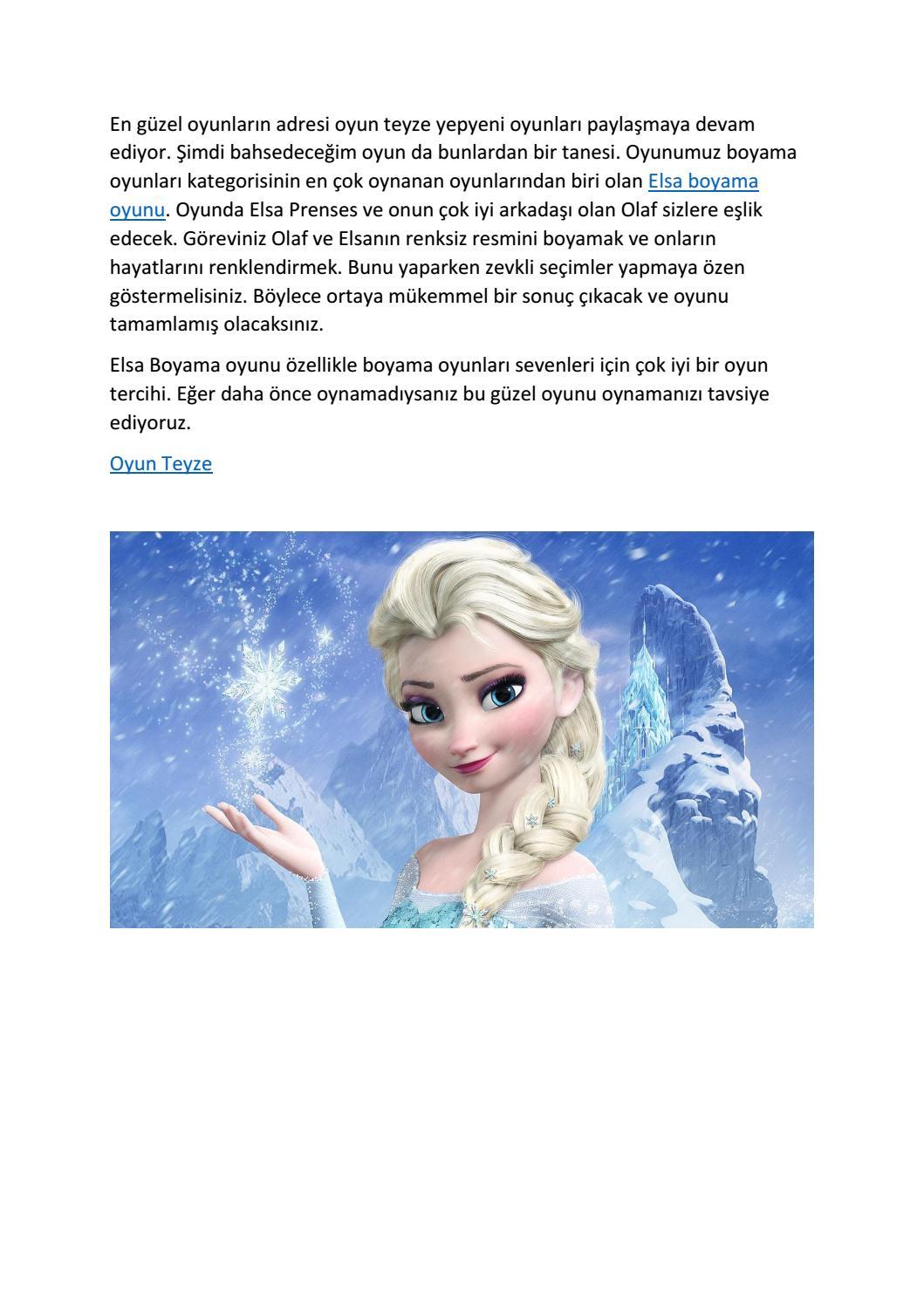 Elsa Boyama Oyunu By Secilarslann Issuu