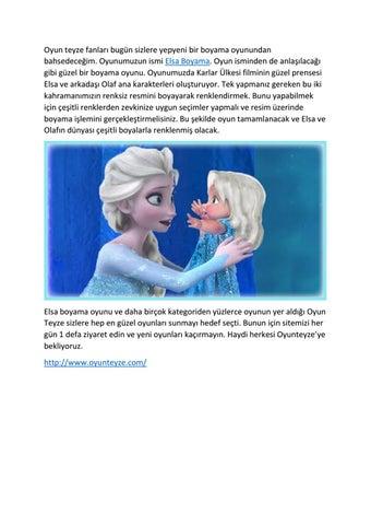 Elsa Boyama By Secilarslann Issuu