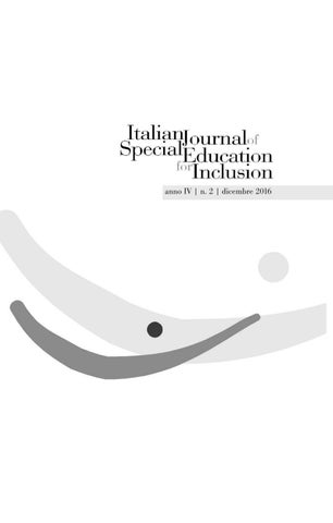 italian journal of special education for inclusion n 2 2016 by
