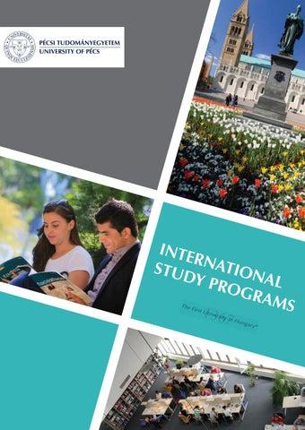University of Pécs - International Programs Guide - 2017 by
