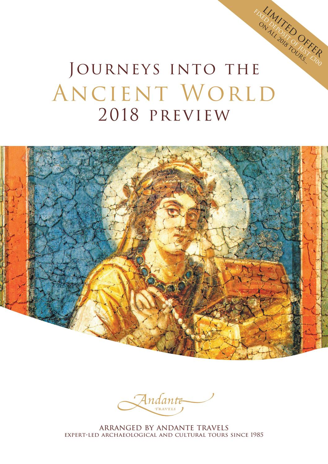 Andante Travels 2018 Preview Brochure by Specialist Journeys
