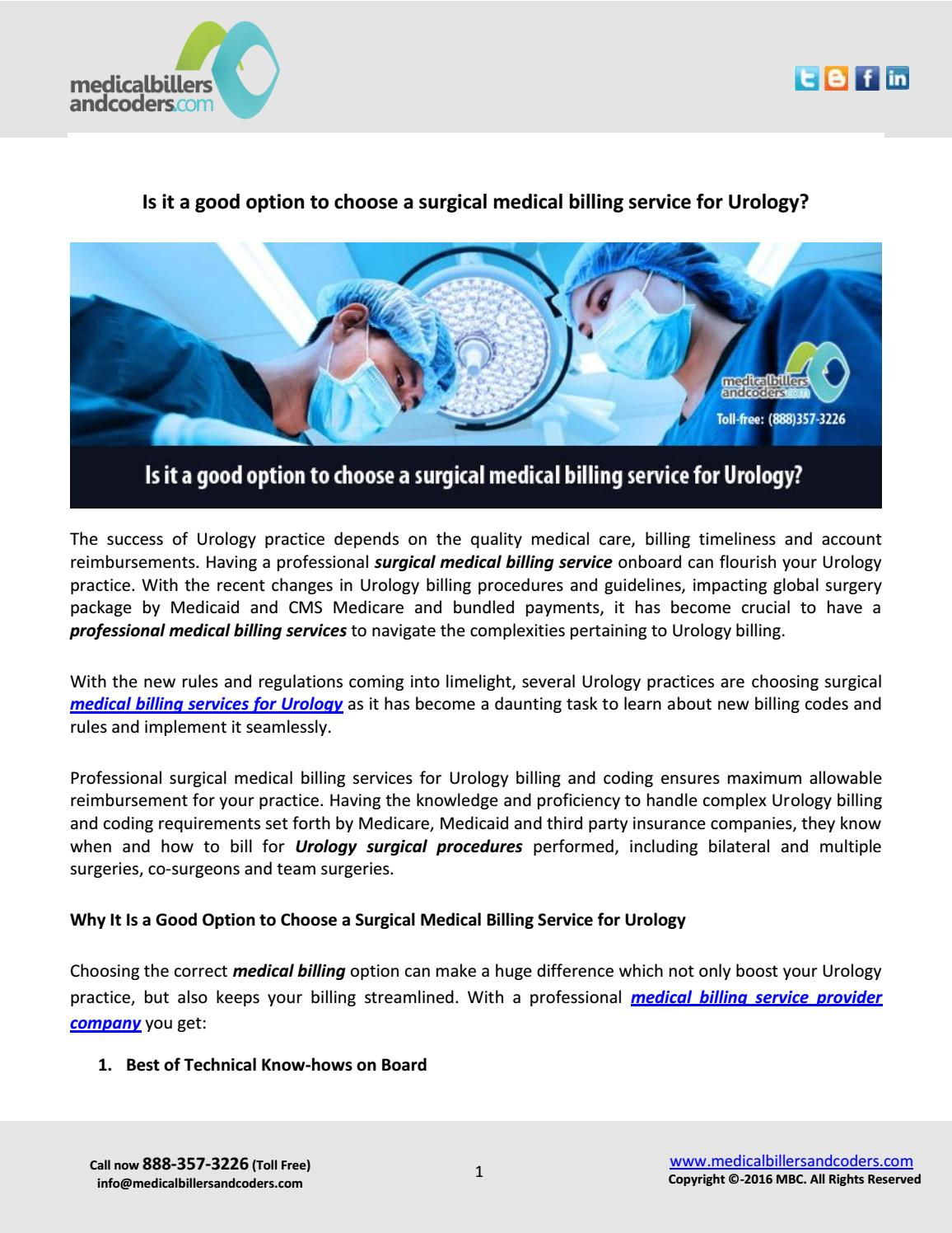 Is it a good option to choose a surgical medical billing