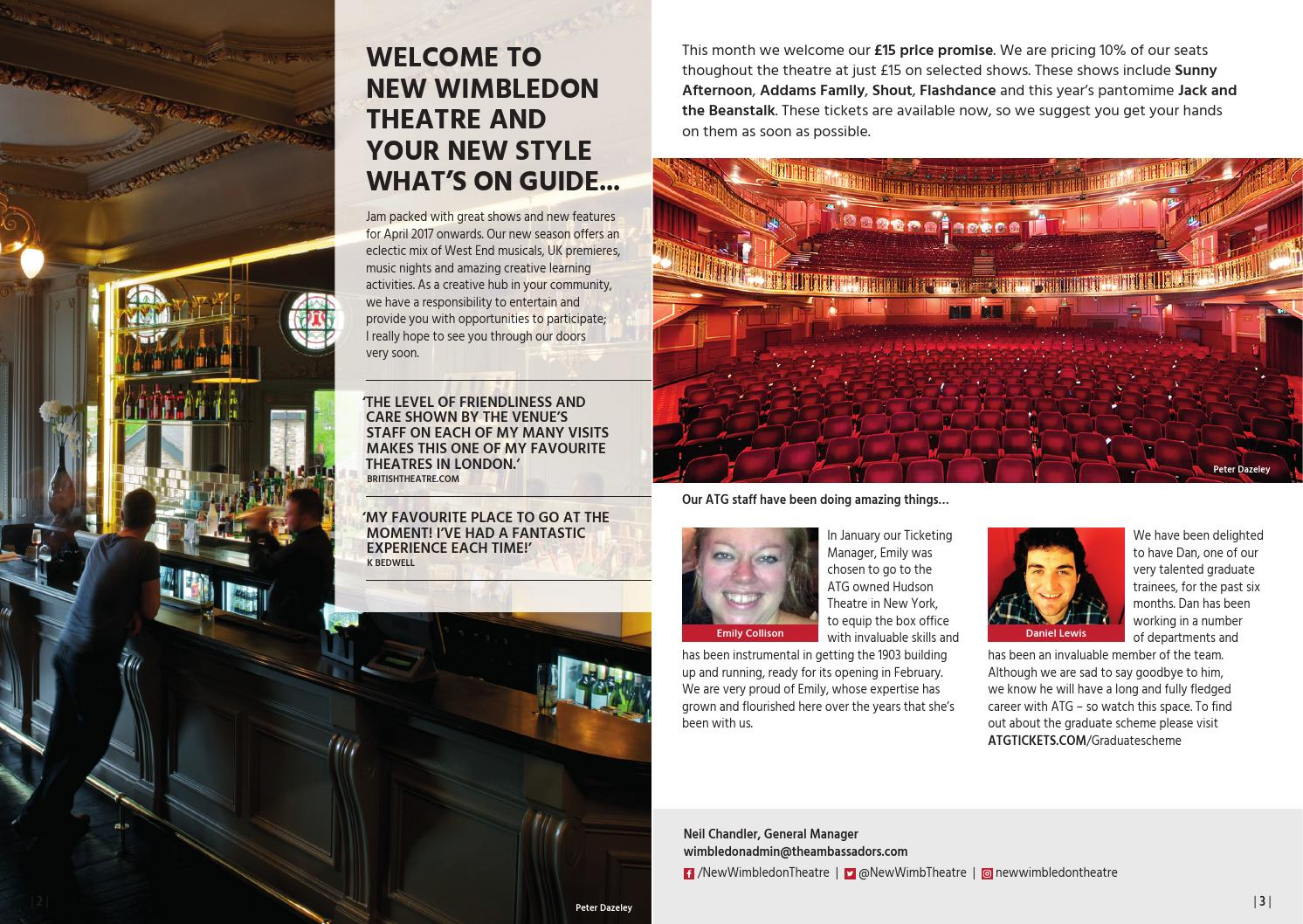 30551eb17e64 New Wimbledon Theatre - What s On  April - September 2017 by ATG Tickets -  issuu