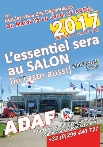 Salon adaf 2017 by ditions garance issuu for Salon eurexpo lyon 2017
