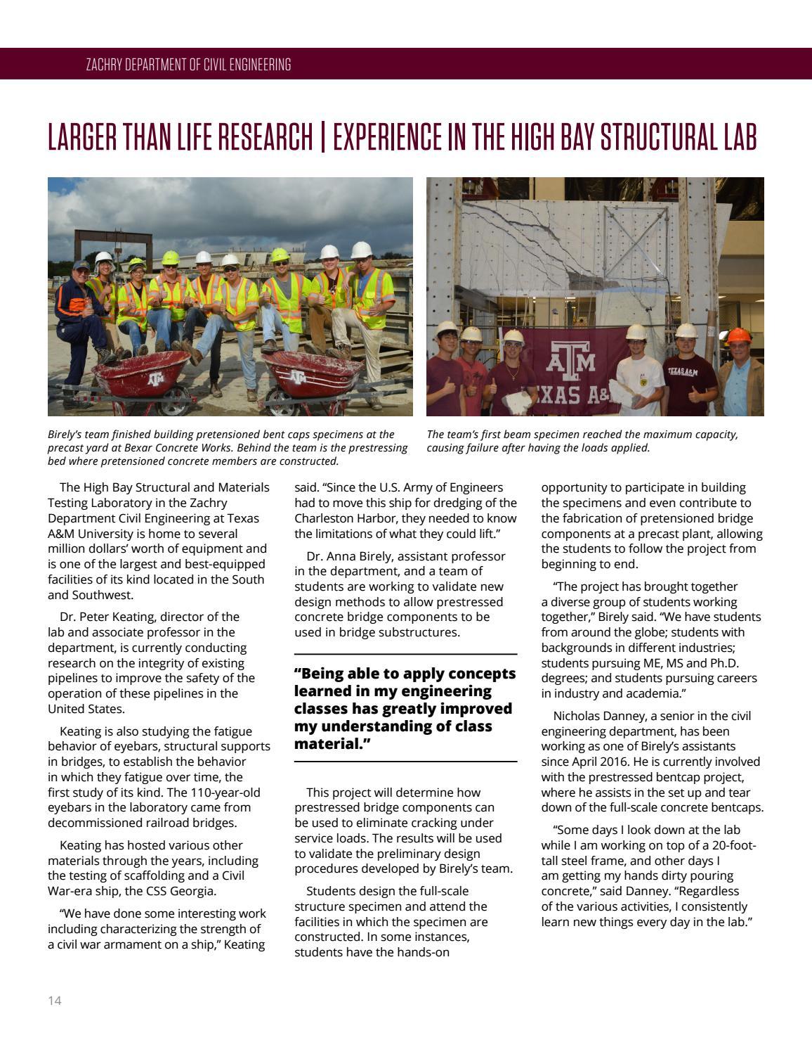 Undergraduate Program Spring Magazine 2017 by Zachry
