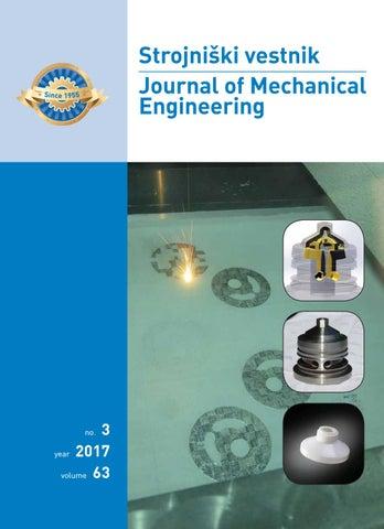 Journal of Mechanical Engineering 2017 3 by Darko Svetak - issuu