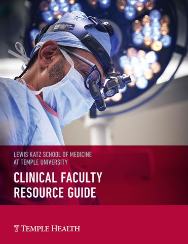 Clinical Faculty Resource Guide Lewis Katz School Of Medicine At