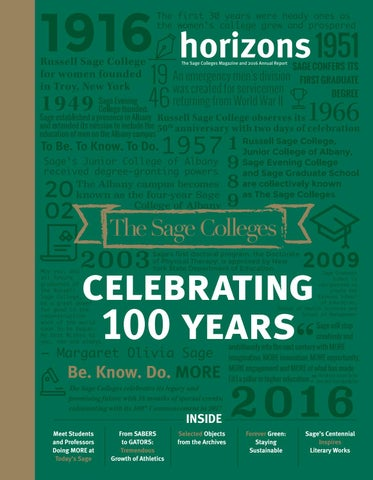 Horizons 2016 by The Sage Colleges - issuu