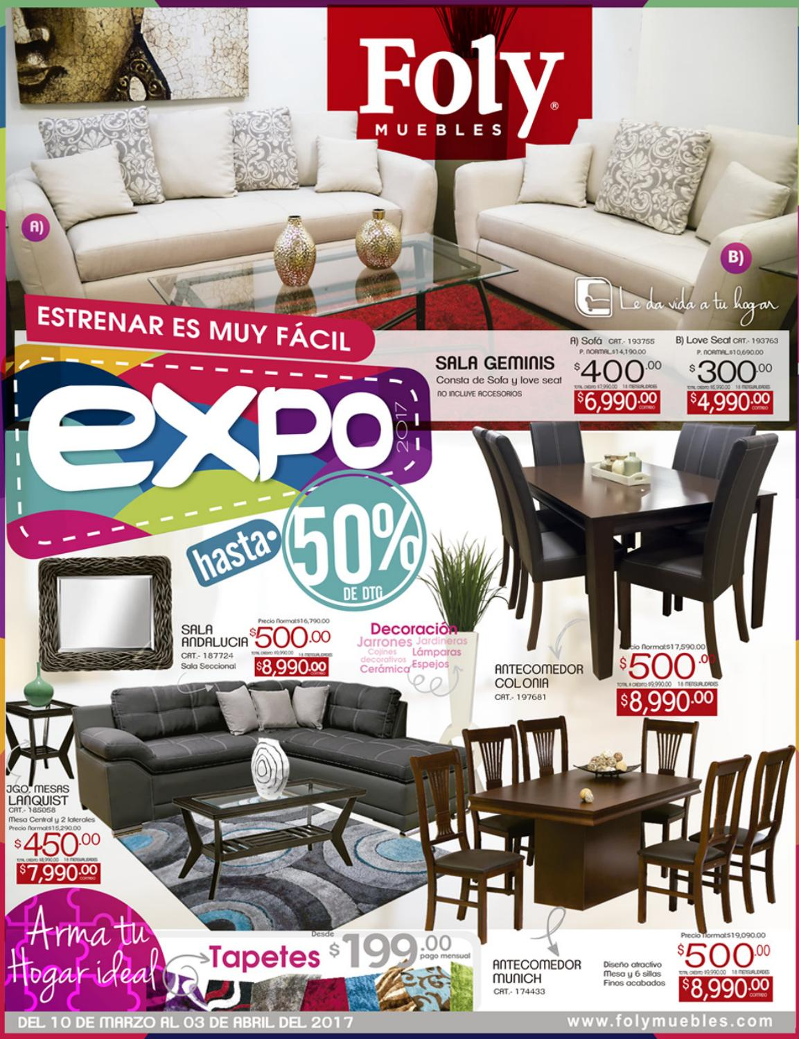 Folleto expo 2017 by foly muebles oficial issuu for Folletos de muebles