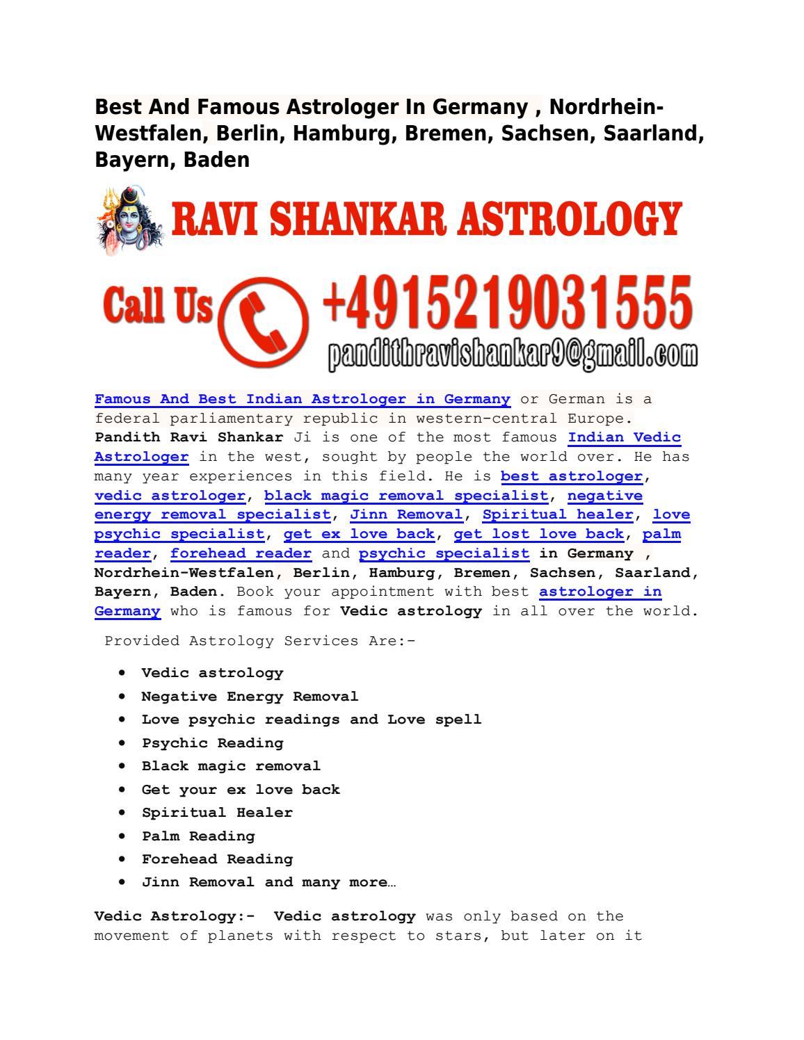 Best And Famous Astrologer In Germany , Nordrhein-Westfalen, Berlin