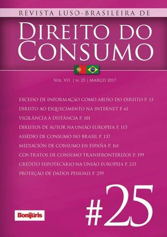b0d41c744b0 Revista Luso-Brasileira de Direito do Consumo n 25 by Editora ...