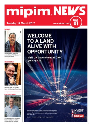 Mipim 2017 news 1 by REED MIDEM REAL ESTATE SHOWS - issuu