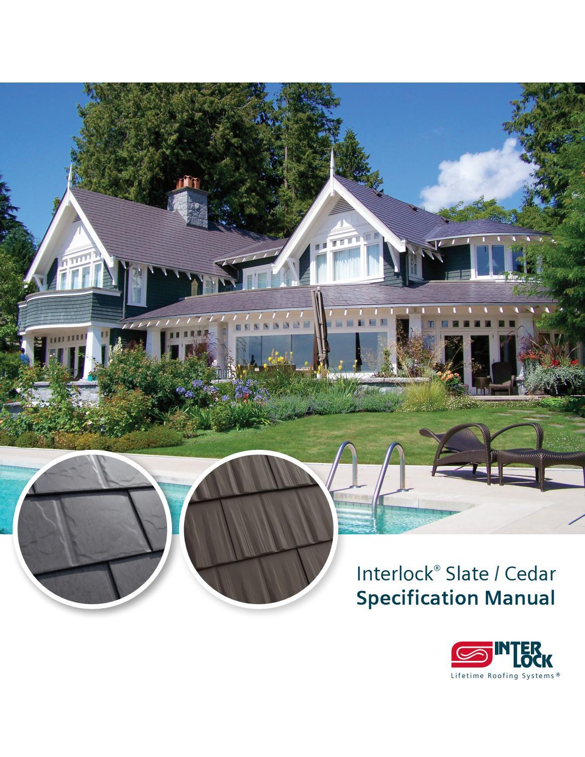 Interlock 174 Slate Cedar Spec Manual By Interlock Metal
