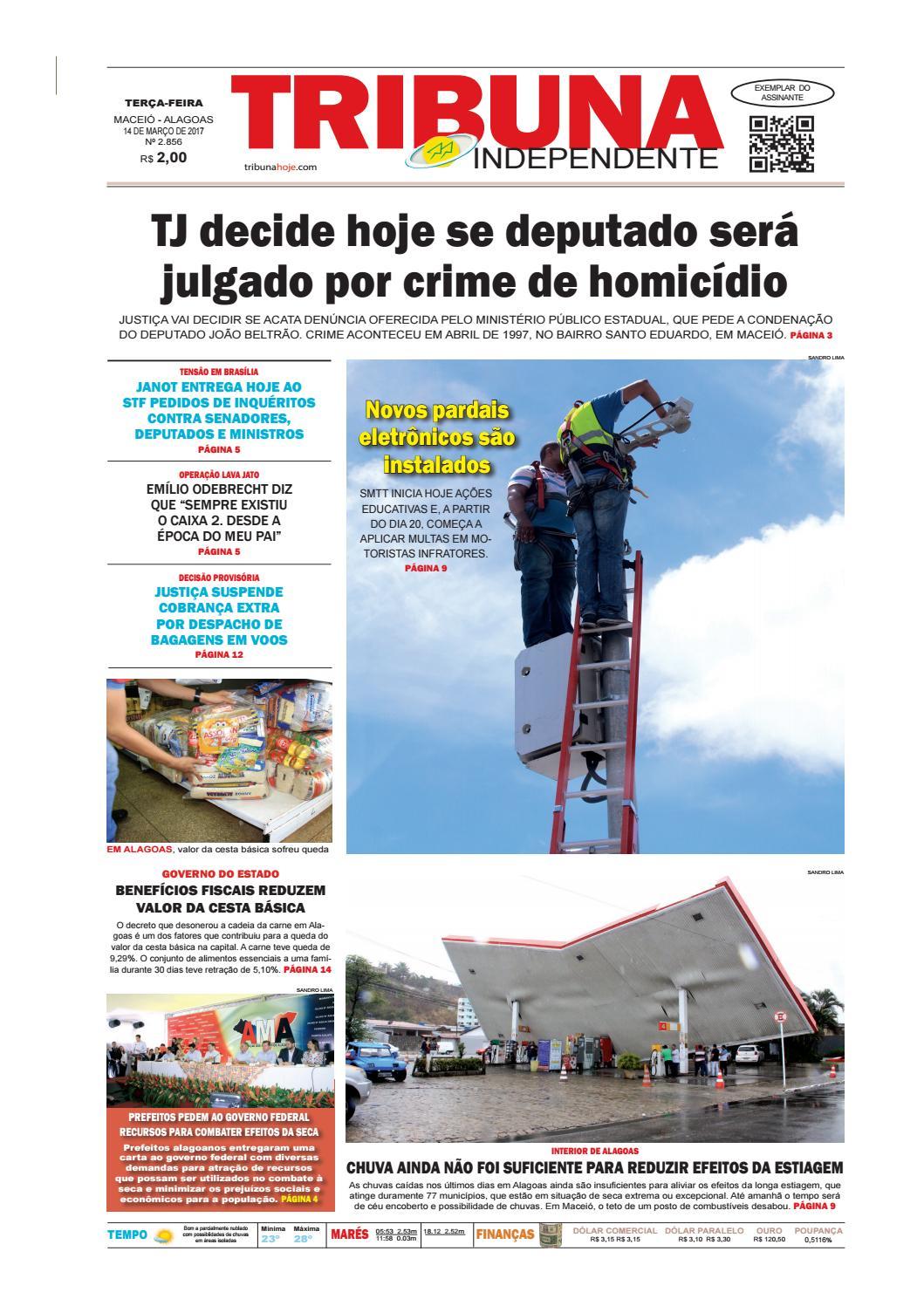 9c0633962ef41 Edição número 2856 - 14 de março de 2017 by Tribuna Hoje - issuu