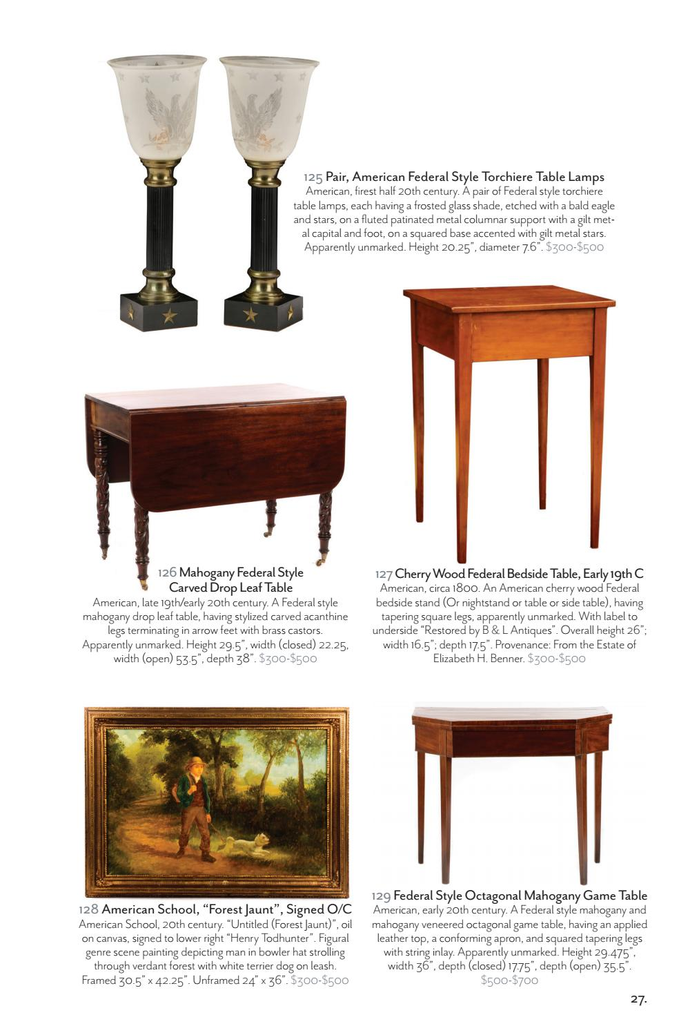 Sidetable Wit Met Glas.Ahlers Ogletree 2017 Spring Salon Auction Catalogue By