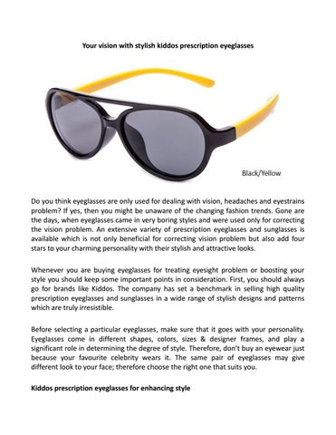 66759292a6 Page 1. Your vision with stylish kiddos prescription eyeglasses. Do you ...