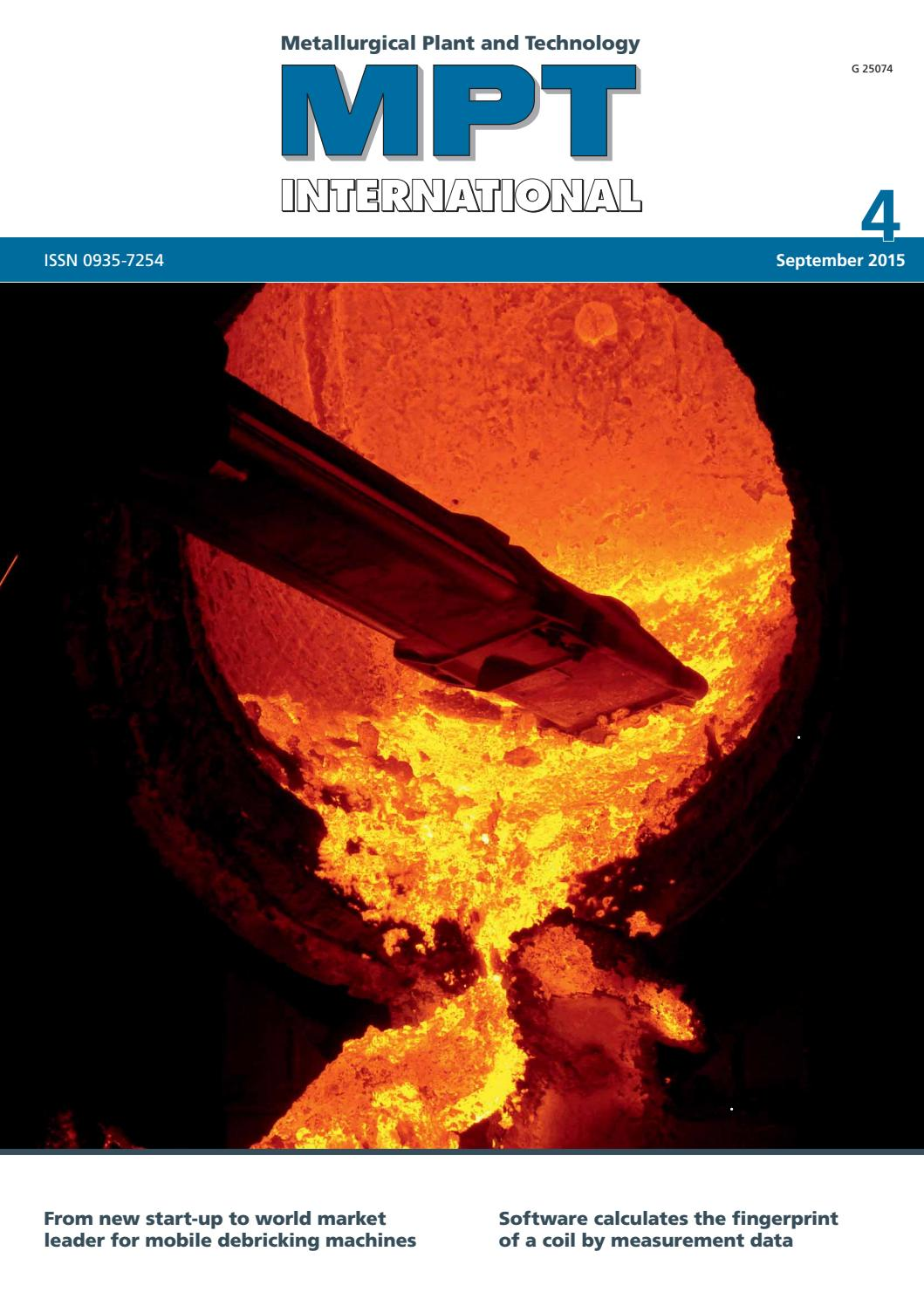 MPT International 4/2015 (Sep) by MPT Metallurgical Plant