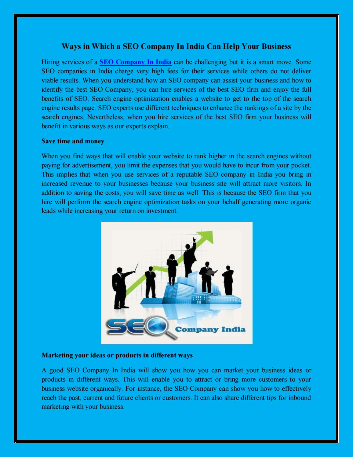 India seo company by Irank Media - issuu