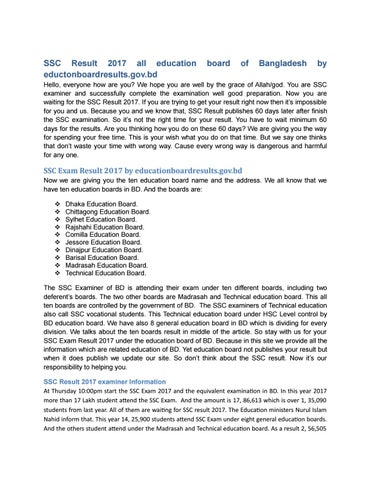 Ssc result 2017 all education board of bd by Rajkumar_joy