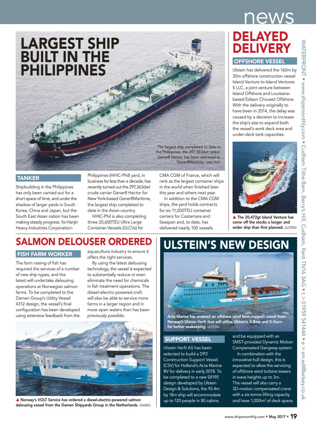 Ships monthly may 2017 by AlbertfmLV - issuu