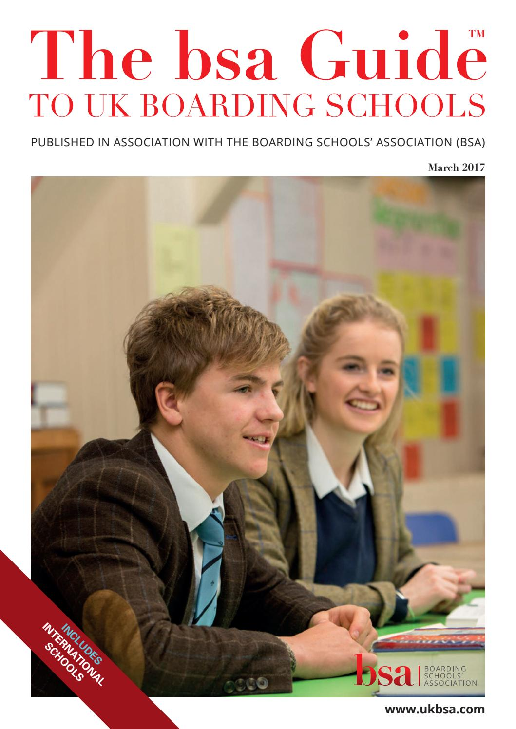 BSA Guide to Uk Boarding Schools March 2017 by Bulldog Publishing - issuu