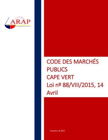 Code Des Marches Publics Cape Vert By Arap Cabo Verde Issuu