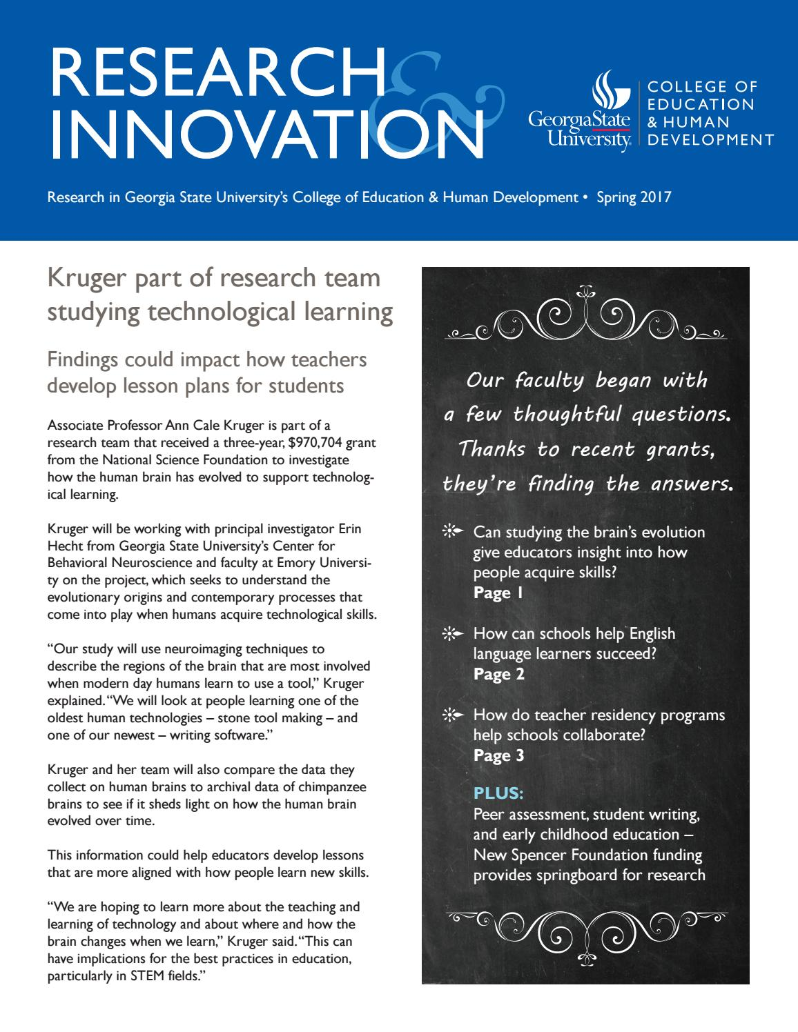 Research & Innovation - Spring 2017 by Georgia State