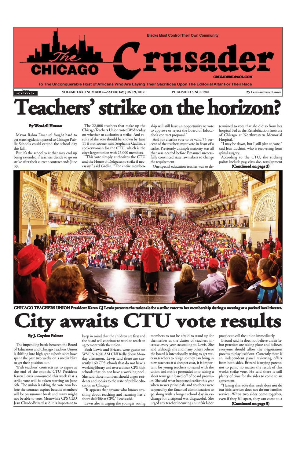 Chicago Crusader E-Edition 6/9/2012 by The Crusader