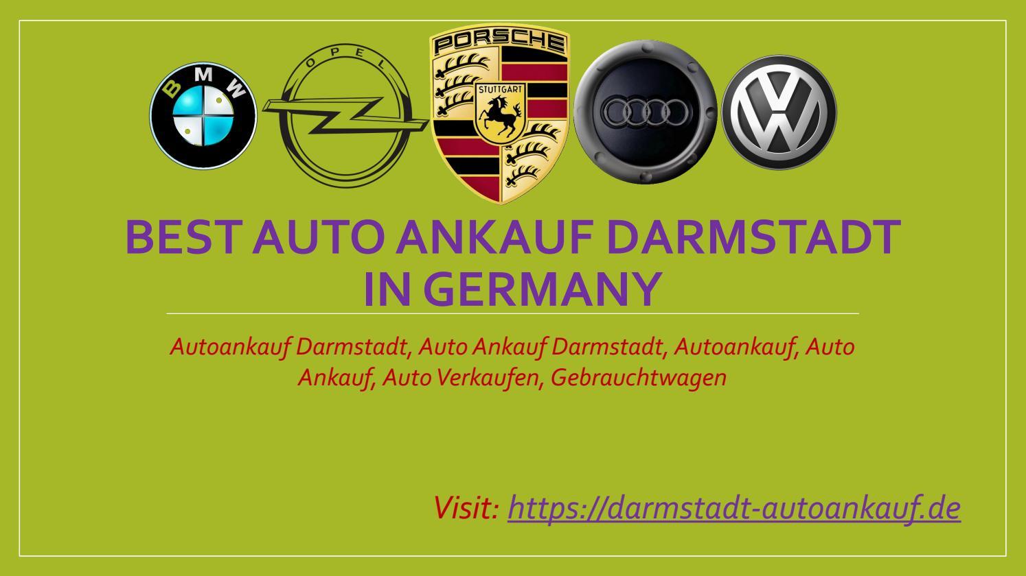 Auto Verkaufen Darmstadt