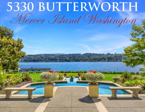 Page 1. 5330 BUTTERWORTH. Mercer Island Washington