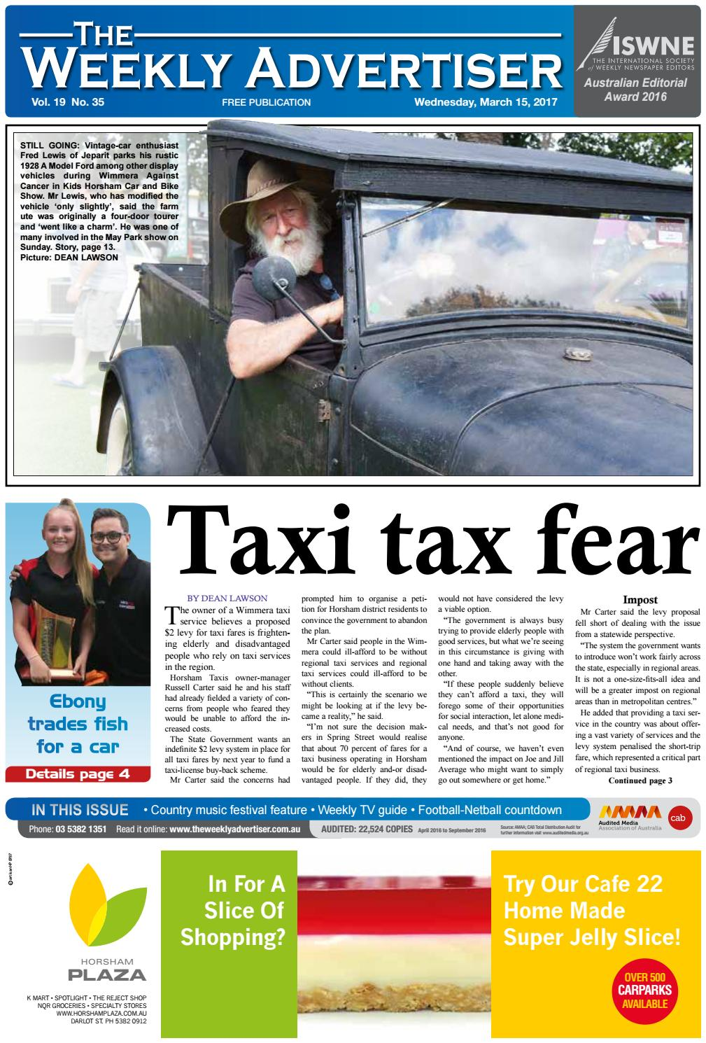 bece5024354303 The Weekly Advertiser - Wednesday, March 15, 2017 by The Weekly Advertiser  - issuu