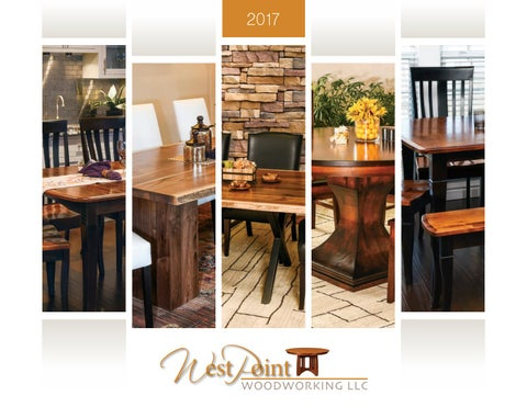 2017 West Point Woodworking Catalog Tables E G Amish Furniture