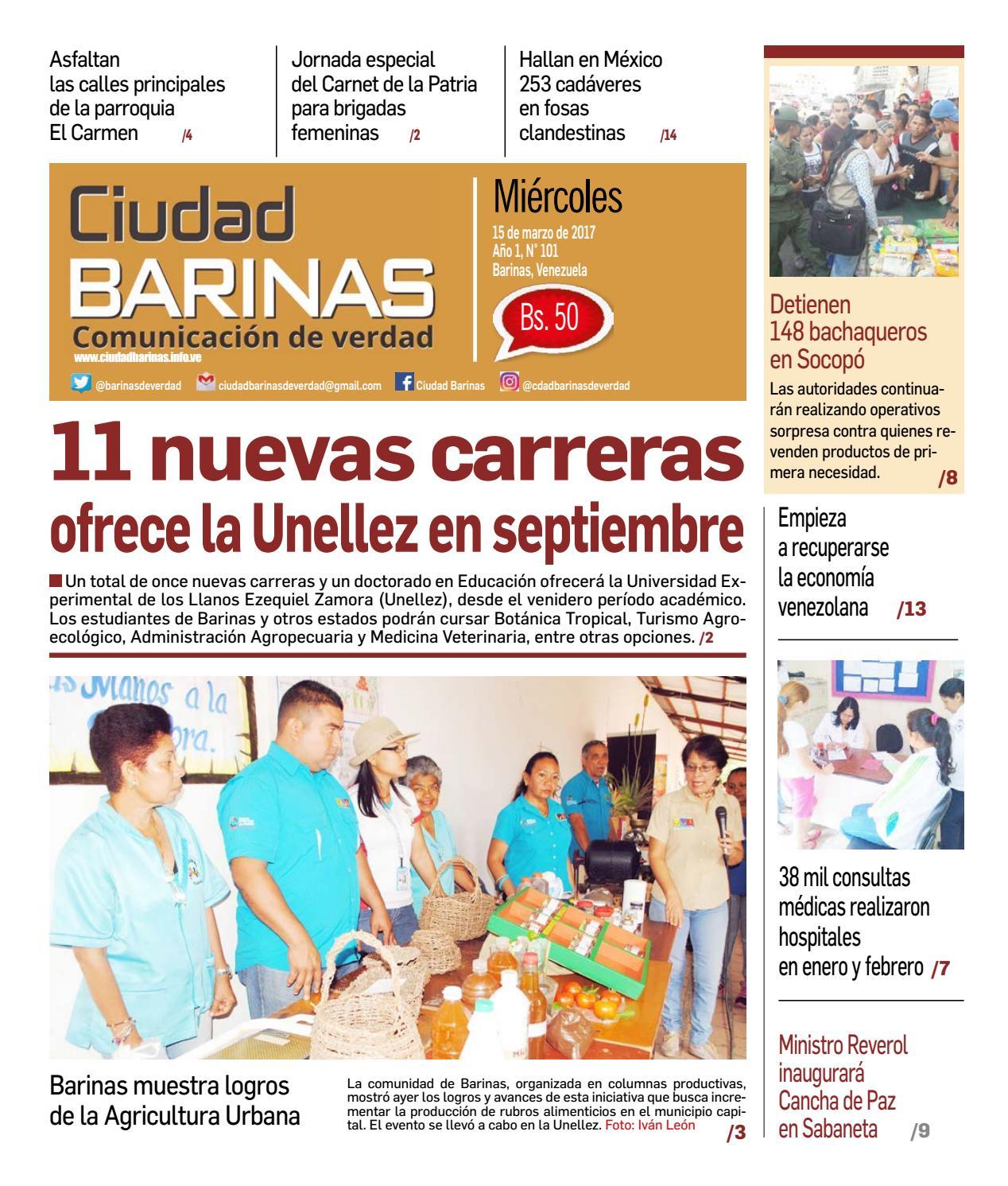 Ciudad Barinas Edición N° 101 by Ciudad Barinas - issuu