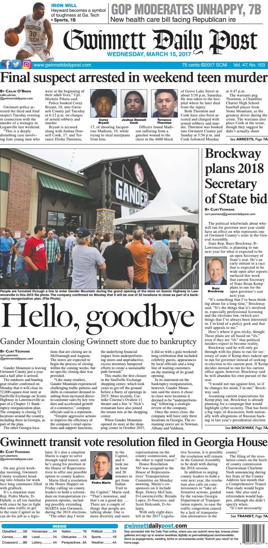 Gwinnett Daily Post March 15 2017 By Gwinnett Daily Post Issuu