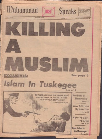 Vintage Muhammadspeaks Newspaper By Muhammad Speaks  Issuu
