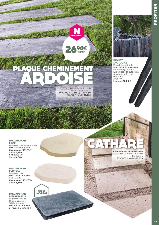 Dalle Ardoise 100 X 30 exterieur amenagements murs terrasses jardins 2017 selection