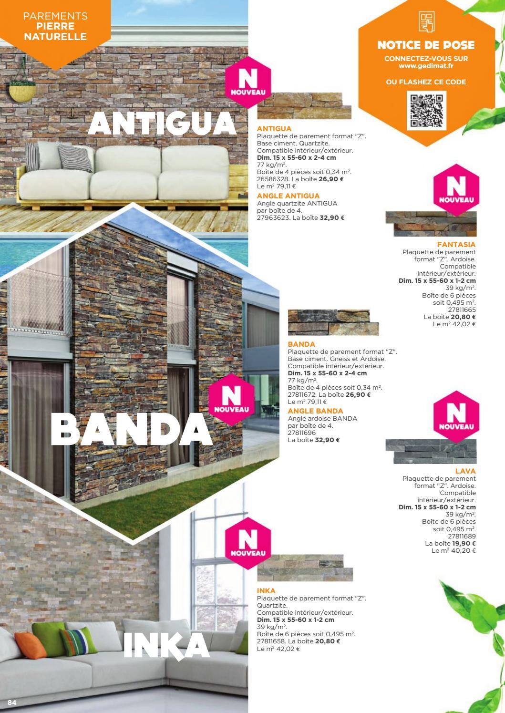 Plaquette Pierre Naturelle Ardoise exterieur amenagements murs terrasses jardins 2017 selection