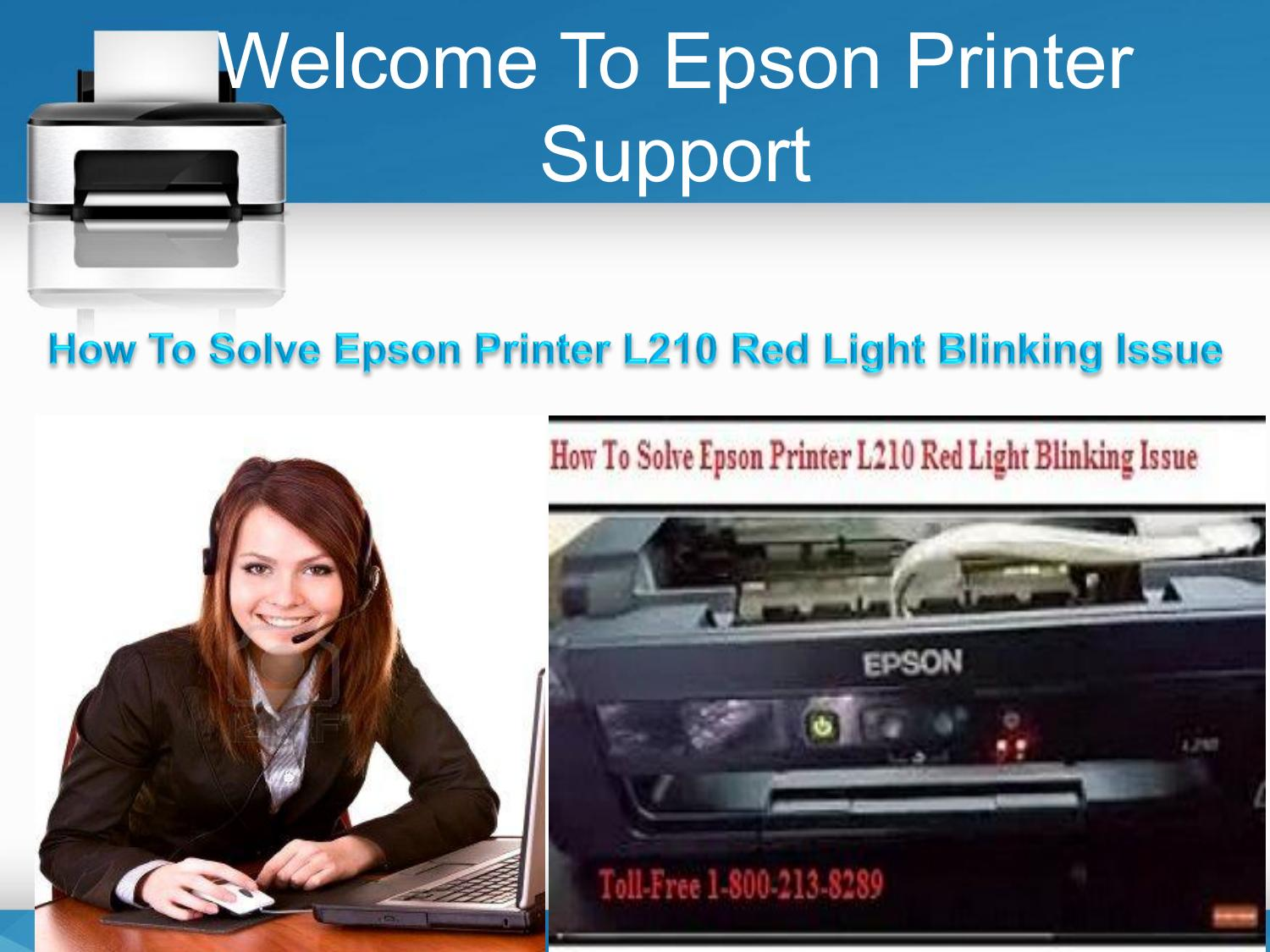 How to solve epson printer l210 red light blinking issue by