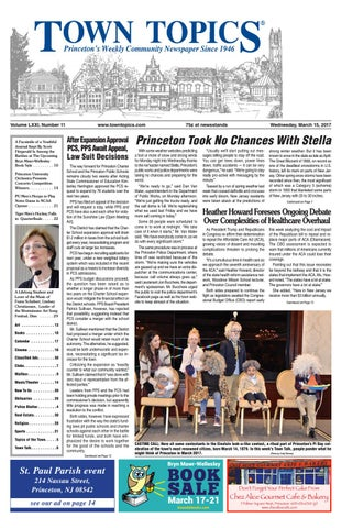 Town Topics Newspaper March 15 2017 By Witherspoon Media Group Issuu