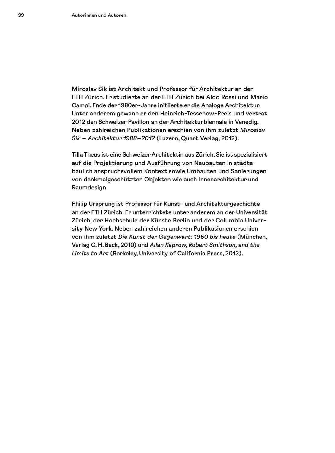 Innenarchitektur Eth Zürich l donati hrsg otto streichers spuren by nzz libro issuu