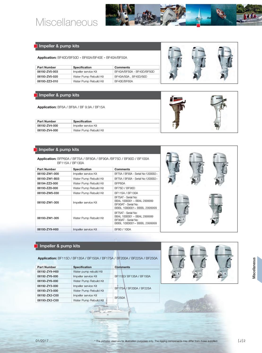 Honda 06193-ZY6-000 Pump Kit Impeller